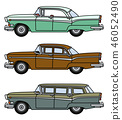 Three old big american cars 46052490