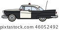 The old american police car 46052492