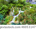 Waterfall in Plitvice Lakes National Park, Croatia 46053147