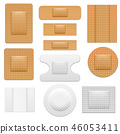 Realistic 3d Detailed Bandage Plaster Set. Vector 46053411