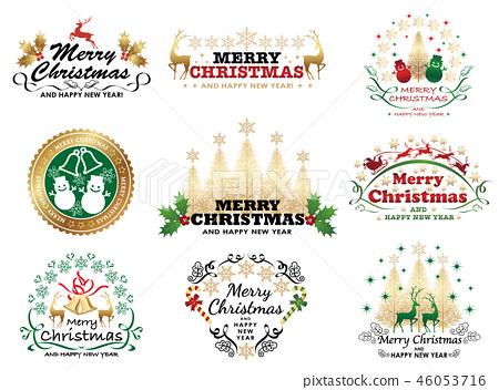 套聖誕節象徵/標誌 46053716