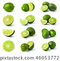 lime, fruit, green 46053772