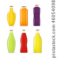 Realistic Detailed 3d Different Types Juice Bottle Glass Set. Vector 46054098