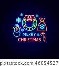 christmas, neon, xmas 46054527