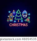 christmas, neon, xmas 46054535