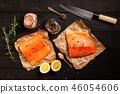 salmon, lemon, rosemary 46054606