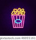popcorn, cinema, neon 46055161