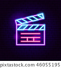 Movie Clapper Neon Sign 46055195