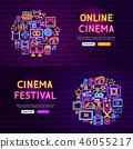 banner, cinema, vector 46055217