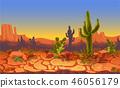 desert, landscape, sunset 46056179