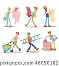 worker, construction, cartoon 46056182