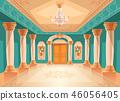 Ballroom or royal palace hall illustration 46056405