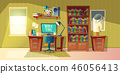 empty home office for freelance job 46056413