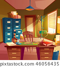 working space of detective, office room interior 46056435