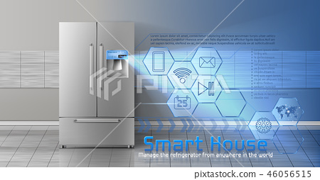 Smart house concept background 46056515