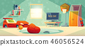 Game console in kid room illustration 46056524