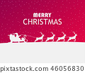 Merry Christmas. Santa Claus in a sleigh 46056830