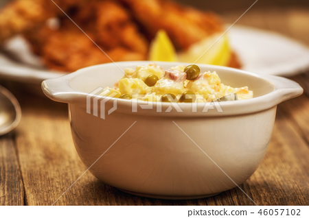 Traditional potato salad 46057102