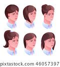 Woman head hairstyle illustration 46057397