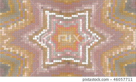 3d rendering of an abstract picture from a mosaic 46057711