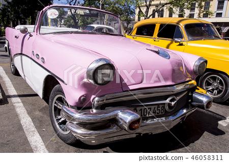 Havana, Cuba. Colorful classic 1950's cars 46058311