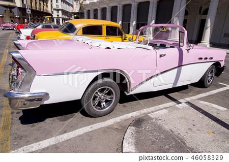 Havana, Cuba. Colorful classic 1950's cars 46058329