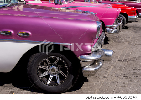 Havana, Cuba. Colorful classic 1950's cars 46058347