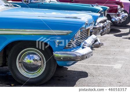 Havana, Cuba. Colorful classic 1950's cars 46058357
