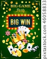 Casino invitation poster for gambling game party 46058833
