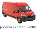 厢式货车 送货车 红色 46058985