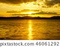 萨罗马湖的日落 46061292