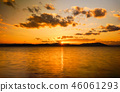 Sunset of Lake Saroma 46061293
