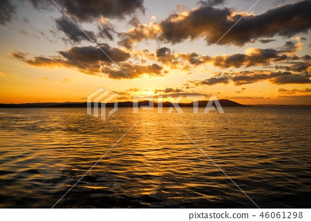Sunset of Lake Saroma 46061298