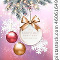 Holiday Christmas background with snowflakes 46061649