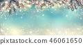 Abstract holiday christmas light panorama.  46061650