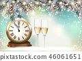 New Year Holiday background with a gift boxes 46061651