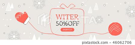 冬季購物橫幅 46062706