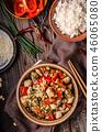 Homemade kung pao chicken stir fry food 46065080