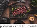 Homemade Beef Steak rare 46065448