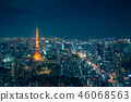 Tokyo Skyline and view of skyscrapers 46068563