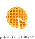 Tasty pie isolated icon 46069221