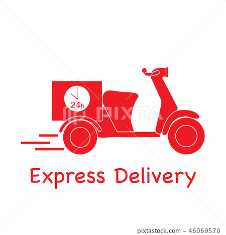 Delivery motorbike Fast and convenient shipping. 46069570