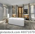 衛生間 浴室 浴缸 46071079