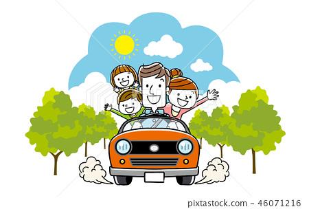 和家人一起開車 46071216