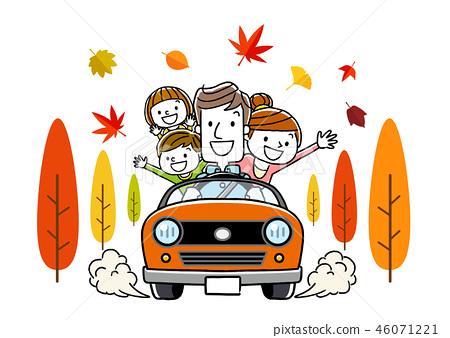 家庭和秋季開車 46071221