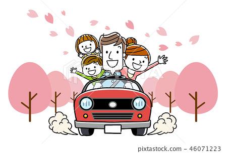 가족 봄 드라이브 46071223