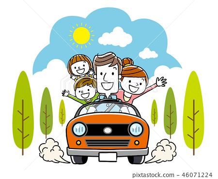 和家人一起開車 46071224