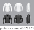 3d realistic white, black long sleeve sweaters 46071373
