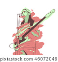 Illustration of young musician playing guitar 46072049