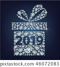 Gift present with 2019 made up a lot of diamonds 46072083